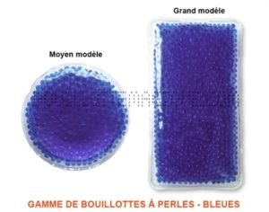 gamme de bouillottes bleues