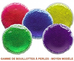 Lot de 5 bouillottes perles moyen modèle