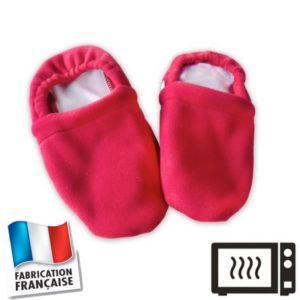 Chaussons bouillottes rouges
